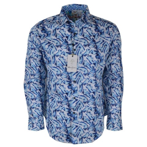Robert Graham DELLWOOD Brushstroke Print Button Down Sport Shirt