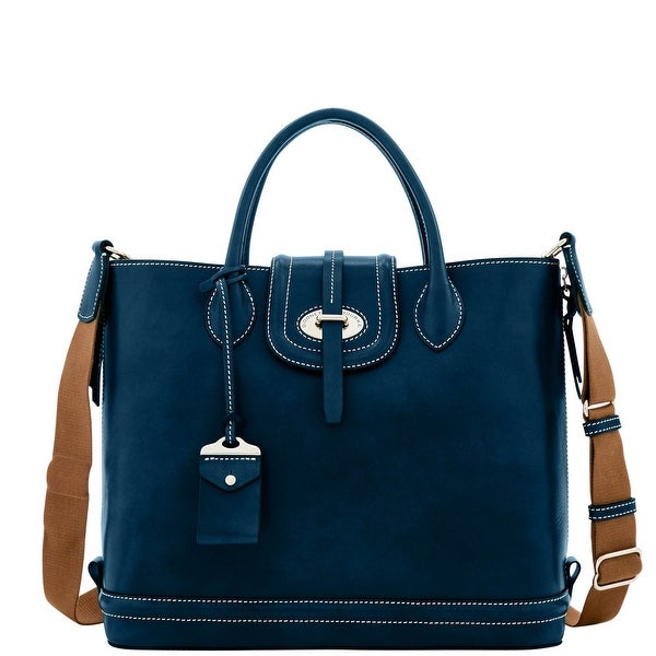 Dooney & Bourke Florentine Toscana Side Zip Tote (Introduced by Dooney & Bourke at $568 in Sep 2016) - Navy