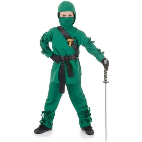 Underwraps Secret Ninja Child Costume (Green) - Solid
