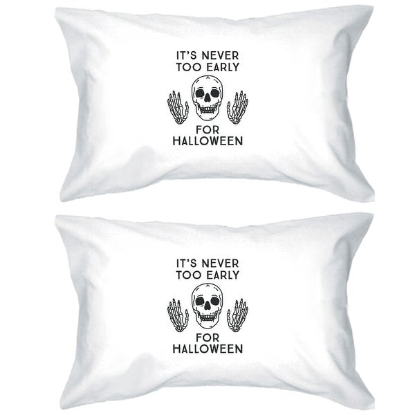 It's Never Too Early For Halloween Pillow Cases Skull Design Covers