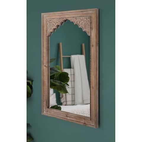 Kate and Laurel Shivani Wood Framed Mirror