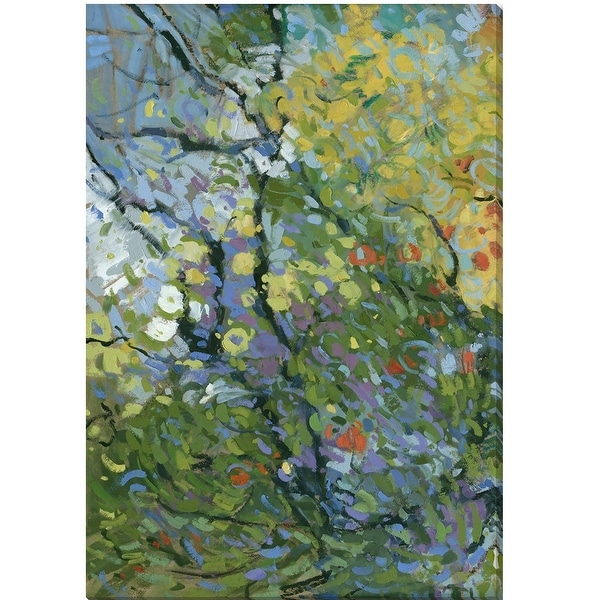 "48"" Green and Yellow Springtide II Rectangular Wall Art Decoration - N/A"