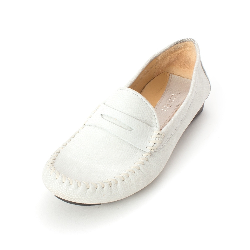 Minor Womens Cameo Leather Round Toe Loafers P.W