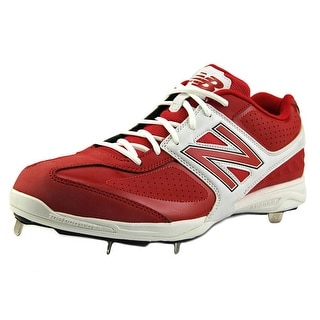 New Balance MB4040 Men Round Toe Synthetic Red Cleats