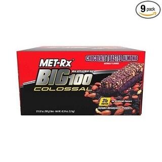 MET-Rx Big 100 Colossal Bar Ch Almond (Box of 9)