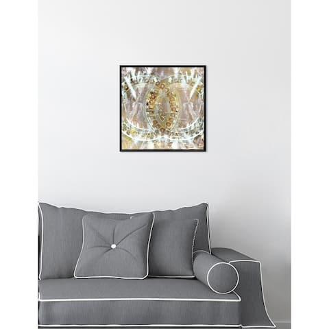 Oliver Gal 'Gilded Diamonds' Abstract Framed Wall Art Print