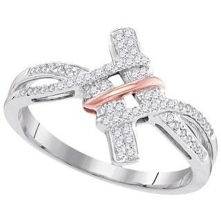 1/6Ctw Diamond Micro-Pave Ring - White