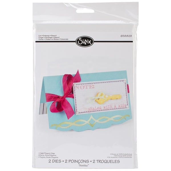 Sizzix Thinlits Dies 2/Pkg-Elegant Edge Card