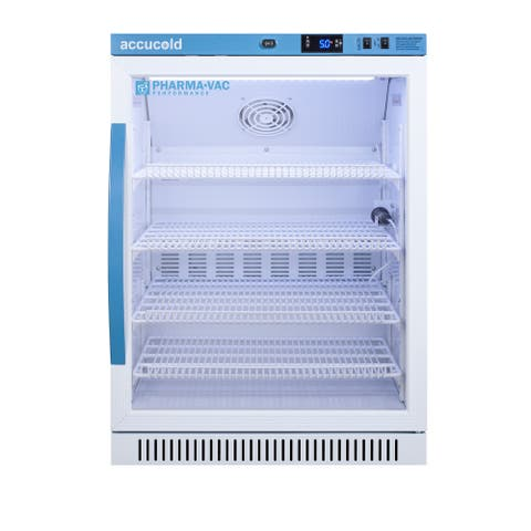 """Summit AR6PV Accucold 24"""" Wide 6 Cu. Ft. Pharmacy Refrigerator"""