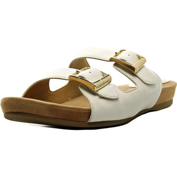 Giani Bernini Jijee Women Open Toe Synthetic White Slides Sandal