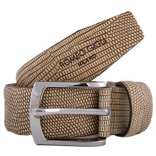 Romeo Gigli Z194/35 CAMELLO Camel Embossed Leather Adjustable Belt