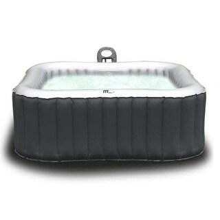MSPA Alpine Hot Tub, 6 Person Grey Inflatable Bubble Spa / M-019LS