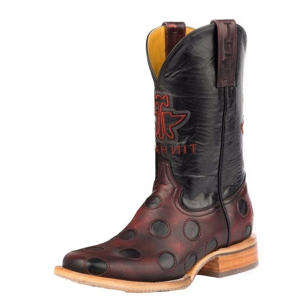 Tin Haul Western Boots Womens Ladybug Red