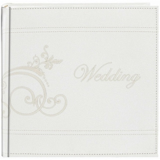 """Pioneer Embroidered Scroll Leatherette Photo Album 8""""X8"""""""