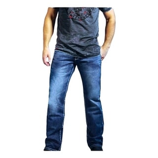 B. Tuff Western Jeans Mens Sharp Denim Bootcut Light Wash MSLIGH