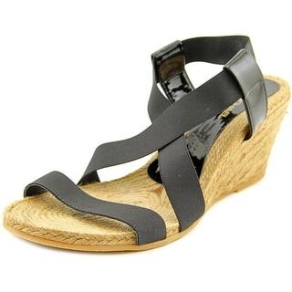Eric Michael Elena Open Toe Synthetic Wedge Sandal