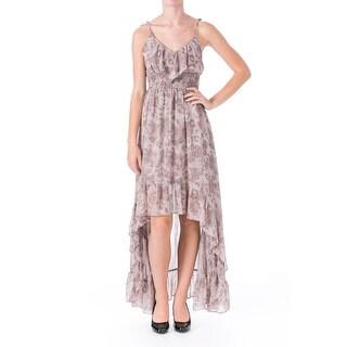 Guess Womens Juniors Chiffon Printed Maxi Dress