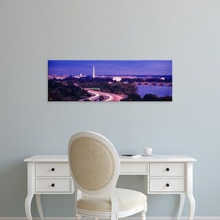 Easy Art Prints Panoramic Images's 'High angle view of a cityscape, Washington DC, USA' Premium Canvas Art