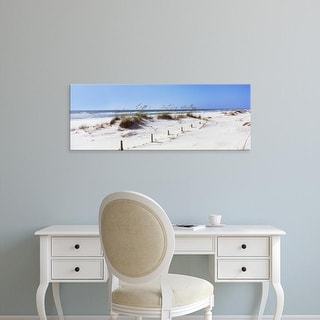 Easy Art Prints Panoramic Image 'Beach, Perdido Key Area, Gulf Islands Seashore, Pensacola, Florida' Canvas Art