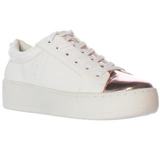 Steve Madden Bertie Platform Lace Up Sneakers - White