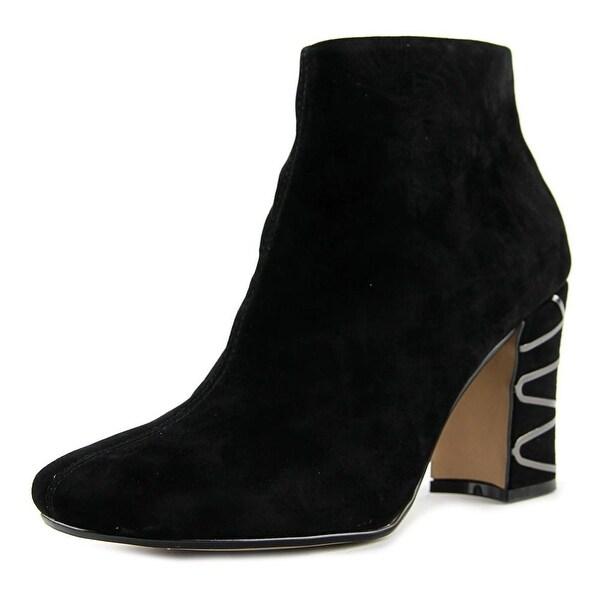 Nina Sayla Women Square Toe Suede Black Bootie