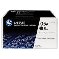 HP 05X 2-pack Yield Black Original LaserJet Toner Cartridge (CE505D)(Single Pack) HP 05A (CE505D) 2-