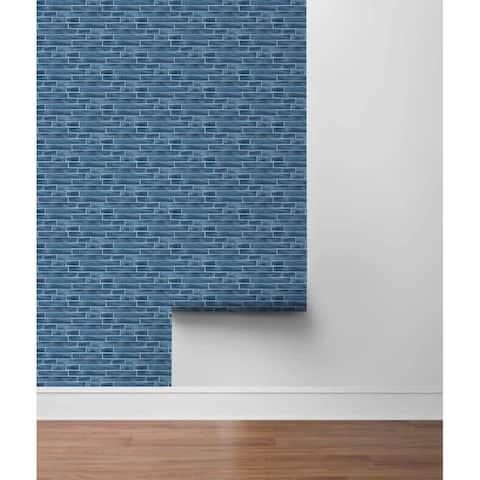 "Parlier, Brushed Metal Tile 18' x 20.5"" Peel & Stick Wallpaper Roll"