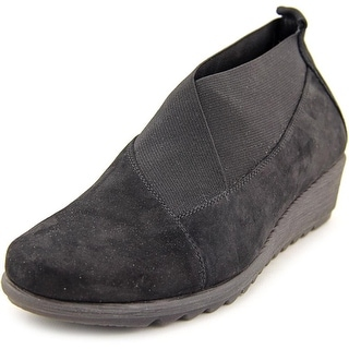 The Flexx Perfect Stretch Women Round Toe Suede Black Loafer