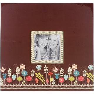 """Pioneer Raised Frame Printed Post Bound Album 12""""X12""""-Garden"""