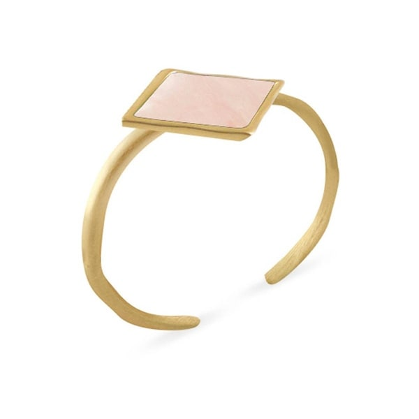 Karen Kane Womens Southern Sky Cuff Bracelet Rose Pearl Diamond Shape - rose pearl/gold