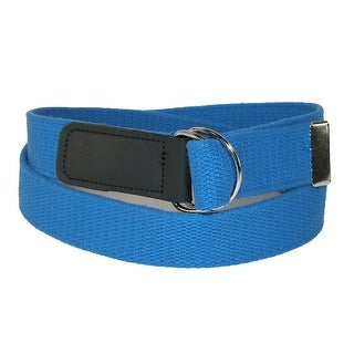CTM® Cotton Plus Size Web 1 1/4 Inch Belt with Double D Ring Buckle