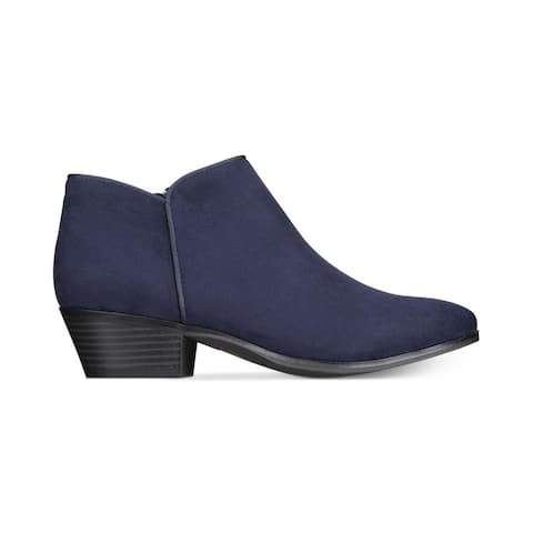 Style & Co Wileyy Ankle Booties Women's Shoes Navy Size 9 M