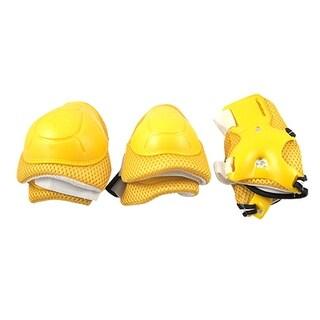 Kids Hook Loop Fastener Yellow Pad Elbow Knee Wrist Support
