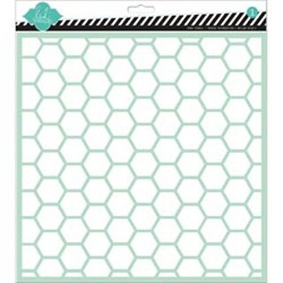 "Hexagon - Heidi Swapp Stencil 12""X12"""
