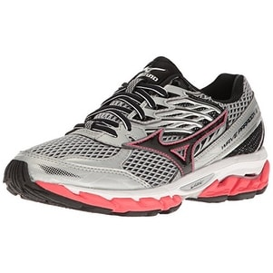 2c461fad326e Shop Mizuno Women's Wave Paradox 3 Running Shoe, Grey-Pink, 9.5 B US - Free  Shipping Today - Overstock - 20290961