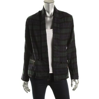 Stories...by Kelly Osbourne Womens Plaid Long Sleeves One-Button Blazer - S