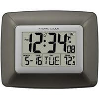 Atomic Digital Wall Clock with Indoor Temperature