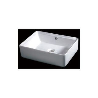 "Eago BA131 19-5/8"" Rectangular Vessel Bathroom Sink - White"