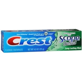 Crest Extra White Plus Scope Outlast Toothpaste, Long Lasting Mint 4 oz