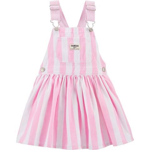 OshKosh B'gosh Little Girls' Jumper, Pink Stripe, 3 Months