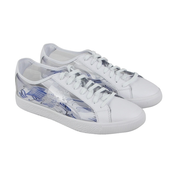 Puma Clyde Clear Sm Mens White Leather