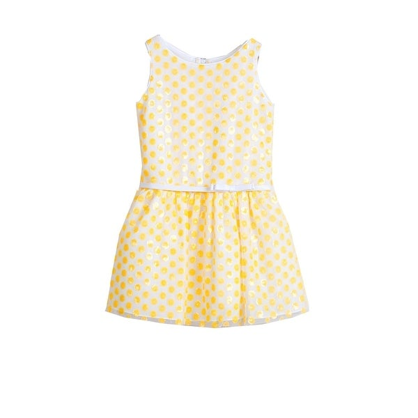 bf377e8b67f Shop Sweet Kids Little Girls Yellow Sequined Polka Dot Flower Girl Dress -  Free Shipping On Orders Over  45 - Overstock - 23090731