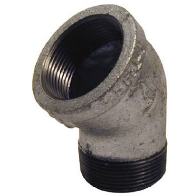 PanNext G-S4505 Galvanized Street Elbow, 1/2