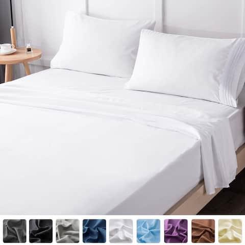 Bed Sheets Set-Super Soft Brushed Microfiber 1800 Thread Count