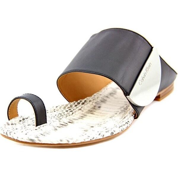 Calvin Klein Womens Babel Split Toe Casual Slide Sandals