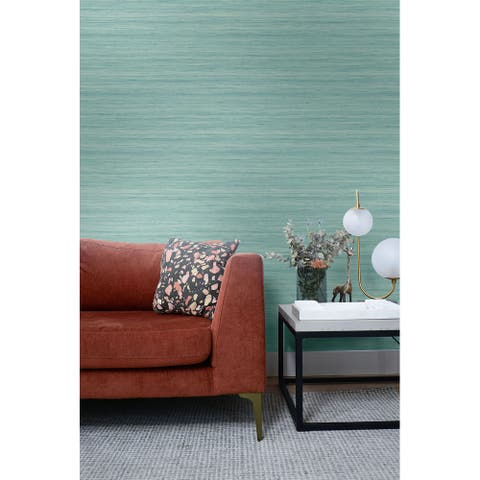 Seabrook Designs Shantung Silk Embossed Vinyl Unpasted Wallpaper