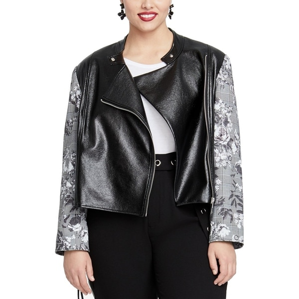 Rachel Rachel Roy Women's Charlie Jacket Black Size 1X Plus Full-Zip. Opens flyout.