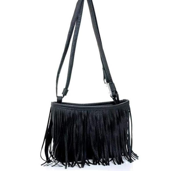 Women Fringe Tassel Shoulder Messenger Bag Crossbody Leather Handbag Purse  ... 0840e7b422