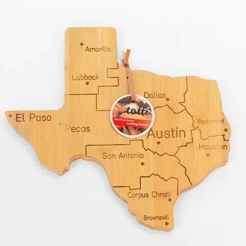 Eviva Texas Shaped Bamboo Cutting Board