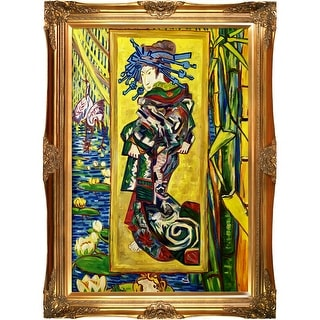 The Courtesan, 1887 by Vincent Van Gogh Framed Hand Painted Oil on Canvas
